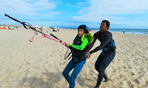 Kitesurf course for kids