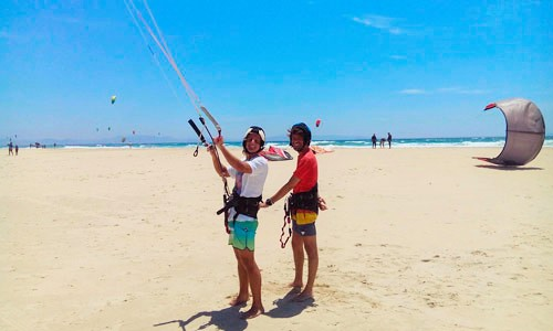 Beginner kitesurf course
