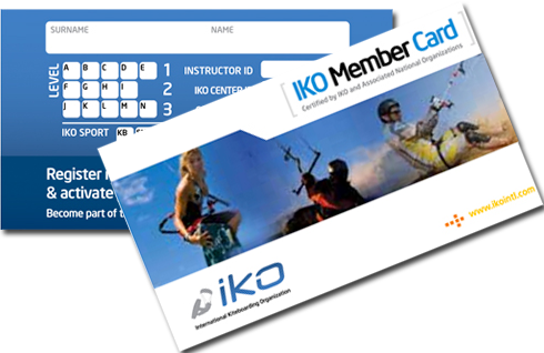 iko kiteboarding card